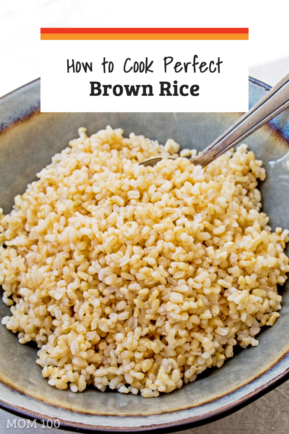 Learn How to Cook Perfect Brown Rice on the Stove—A recipe for perfect brown rice every time!  Finally get over your brown rice fear and get that ideal bowl of plump, chewy little nutritious grains.