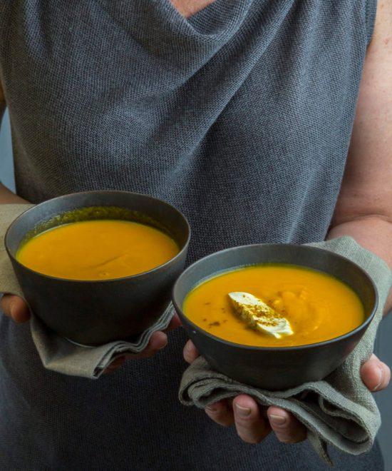 Indian Butternut Squash-Carrot Soup / Todd Coleman / Katie Workman / themom100.com