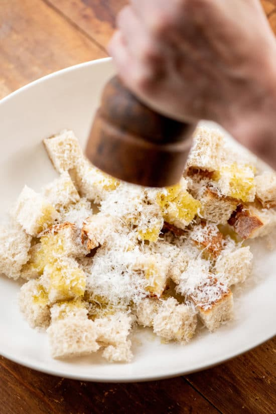 Parmesan Croutons / Photo by Cheyenne Cohen / Katie Workman / themom100.com