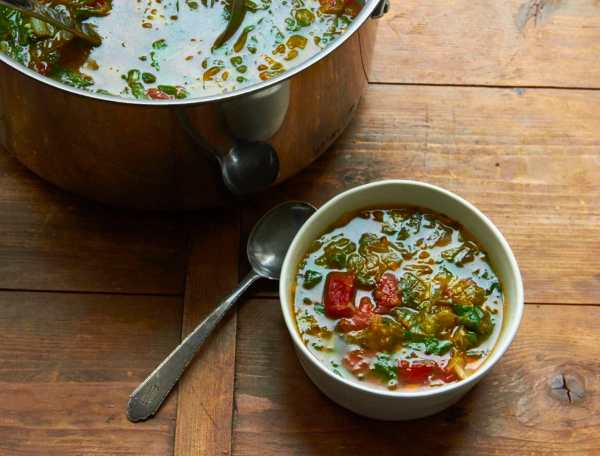 Escarole and Spinach Soup