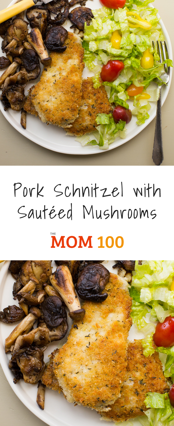 A small ode to sauteed mushrooms. Sauteed mushrooms can turn a simple meat like this Pork Schnitzel with Sauteed Mushrooms into a real dinner.