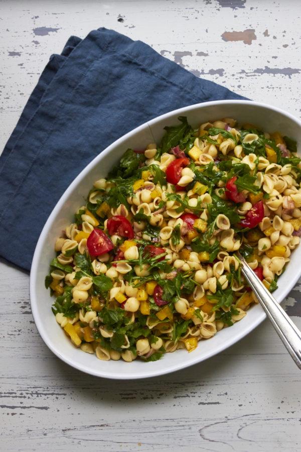Simple Vegetarian Pasta Salad / Mia / Katie Workman / themom100.com