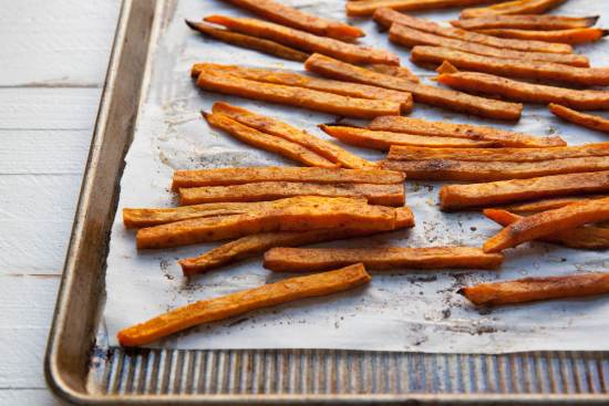 New Bay Sweet Potato Fries / home cooking/ Carrie Crow / Katie Workman / themom100.com