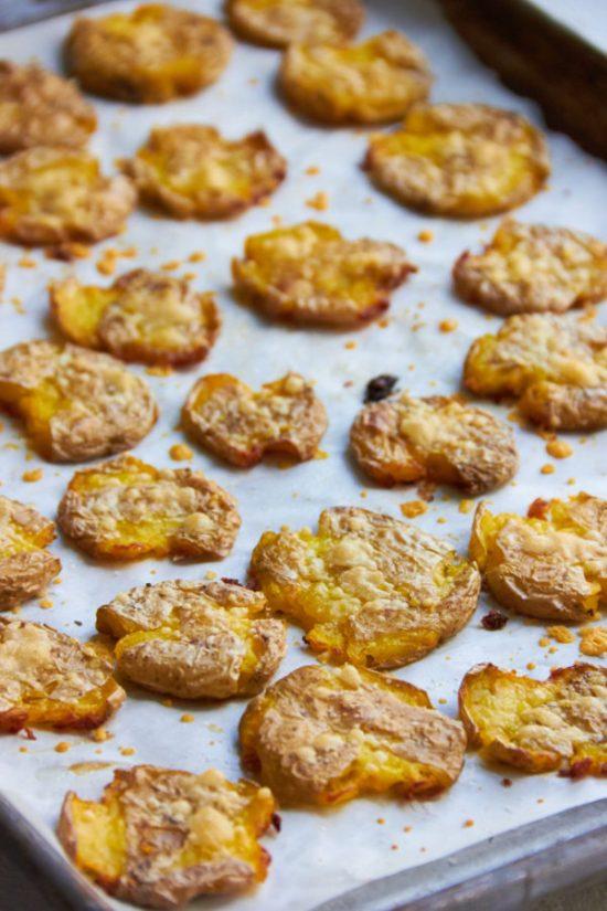 Smashed Roasted Baby Potatoes / Mia / Katie Workman / themom100.com
