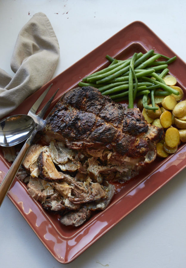 Fall-Apart Roasted Pork Shoulder Roast with Rosemary, Mustard and Garlic