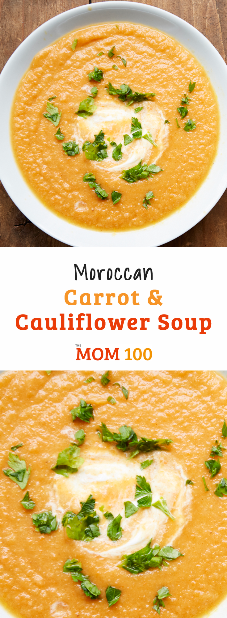 This Moroccan Carrot and Cauliflower Soup incorporates some the spices that most often appear in Moroccan cuisine. It can also be vegetarian or vegan.