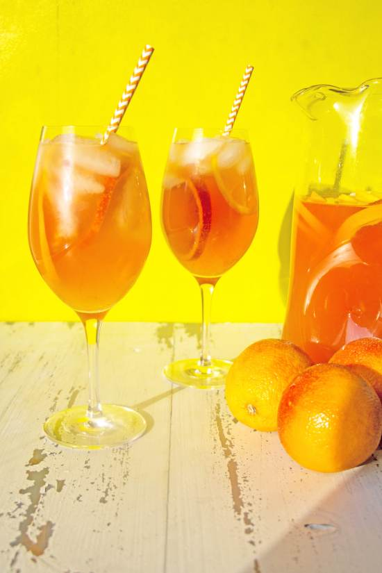 Orange White Wine Campari Sangria