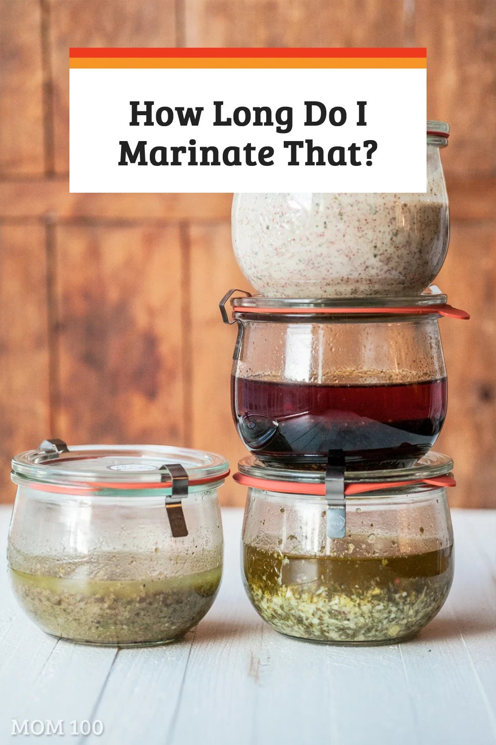 How Long To Marinate Chicken?  And steaks, fish, shrimp, pork, tofu, vegetables.... a guide to how long to marinate different foods (and marinade recipes!).