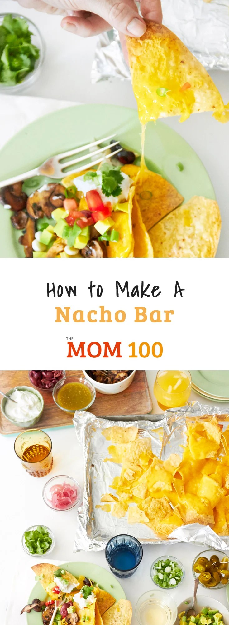 How to Make a Nacho Bar: It\'s Nacho Night with plenty of toppings for the ultimate nacho experience at a party or movie night. The possible combinations are endless.
