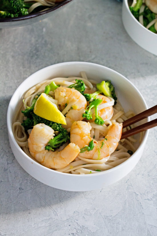 Shrimp and Broccoli Stir Fry with Udon Noodles / Photo by Cheyenne Cohen / Katie Workman / themom100.com