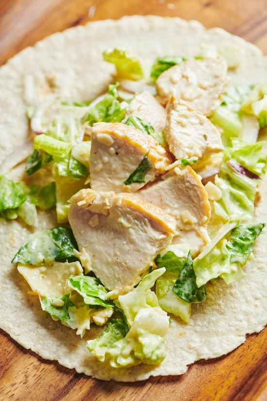 Grilled Chicken Caesar Salad Wraps