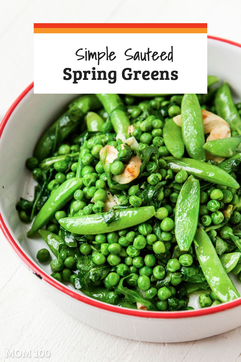 The best way to cook the tender vegetables of spring. Sugar snaps, arugula, spinach, and peas.... you can use any combo you like, but it\'s nice to have an assortment of types and textures.