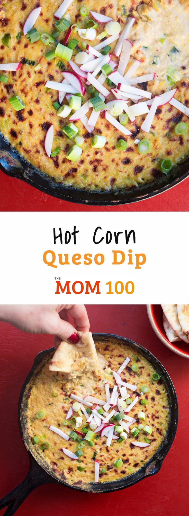 I usually like to cook and eat pretty healthily, but sometimes I like to just roll around in cream and butter and cheese, like with this Hot Corn Queso Dip.