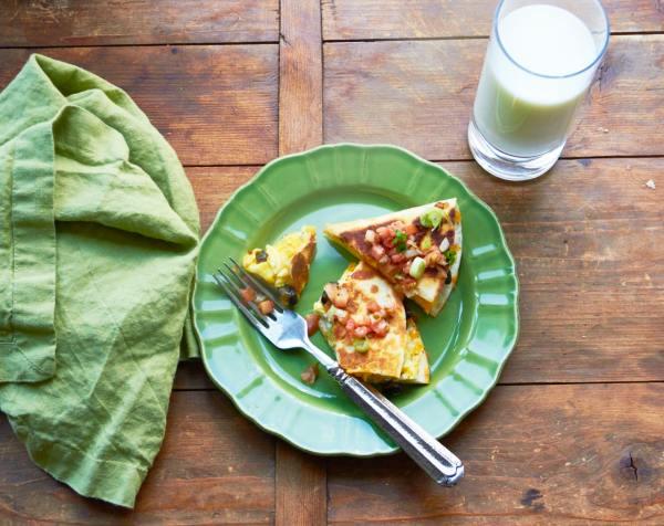 Breakfast Quesadillas / Katie Workman / themom100.com / Photo by Mia