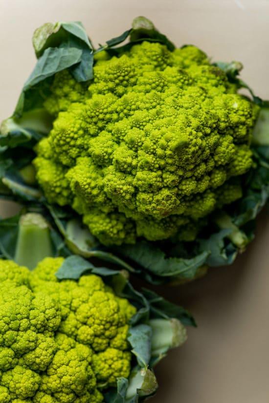 What Does Broccoflower Look Like? / Katie Workman / themom100.com / Photo by Cheyenne Cohen
