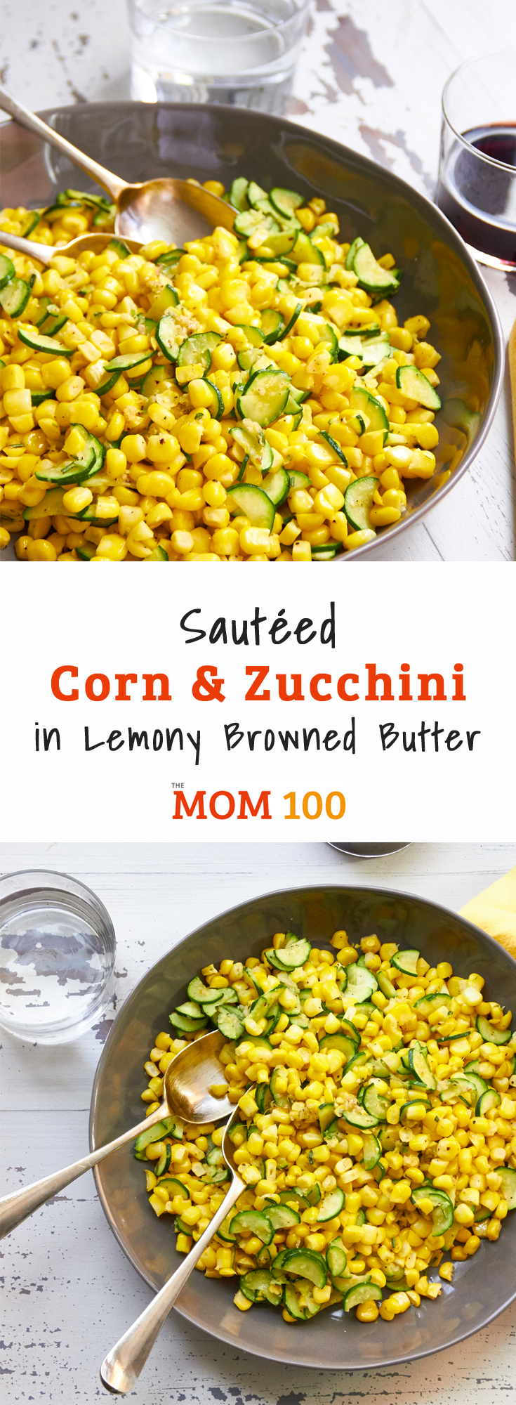 This simple Sautéed Corn and Zucchini in Lemony Browned Butter is a perfect summer side dish, especially if you can make this with fresh corn.