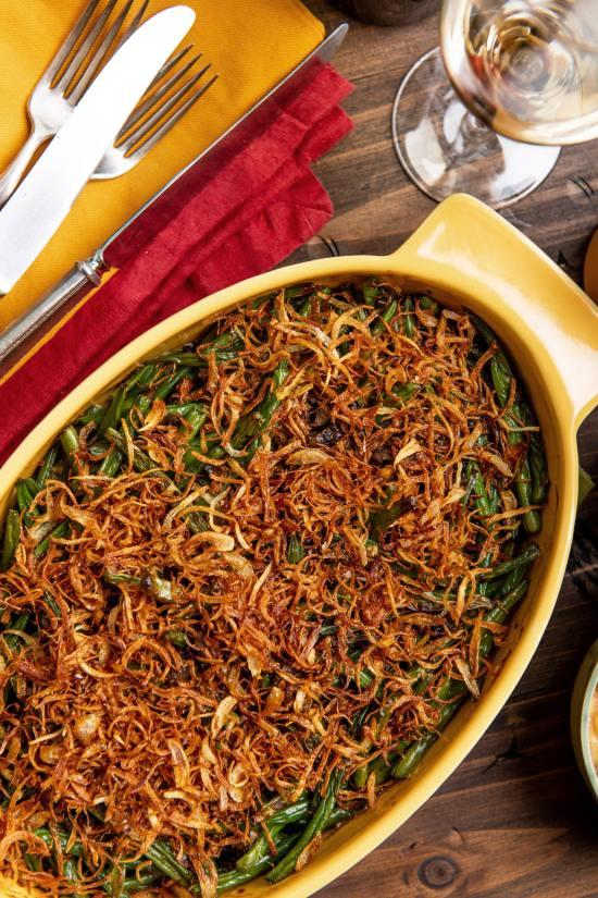 Fresh Green Bean Casserole / Katie Workman / themom100.com / Photo by Cheyenne Cohen