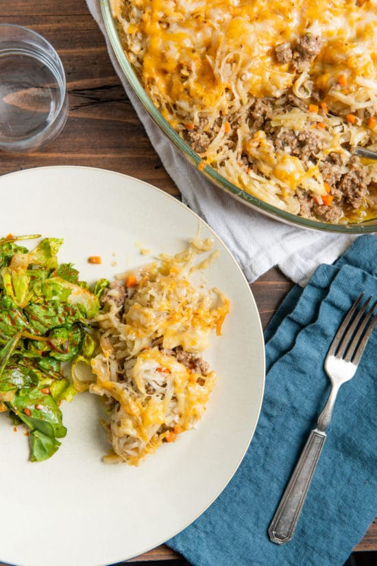 Cheesy Beef and Hash Brown Casserole