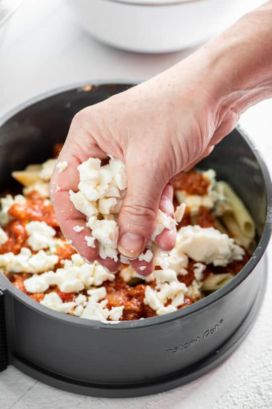Instant Pot Baked Ziti with Meat / Katie Workman / themom100.com / Photo by Cheyenne Cohen