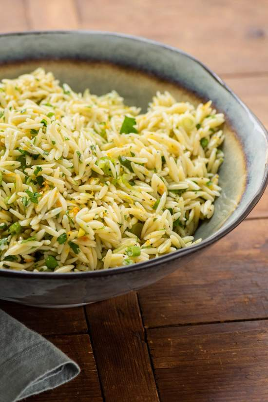 Orange and Herb Orzo