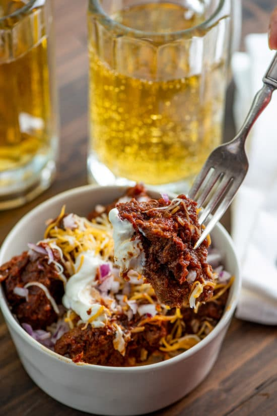 Authentic Texas Red Chili / Katie Workman / themom100.com / Photo by Cheyenne Cohen