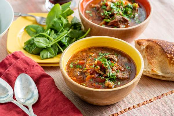 Lamb Stew in Bowls