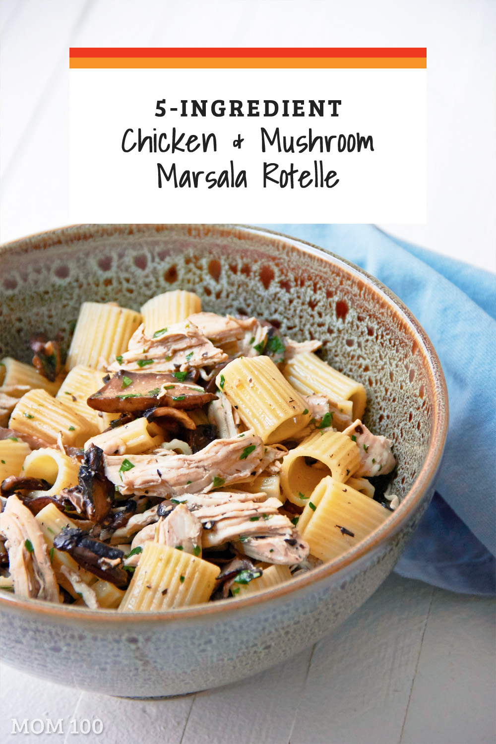 This5-ingredient chicken marsala pasta is the definition of winter-hearty, and weeknight friendly (and can be made with rotisserie chicken)!