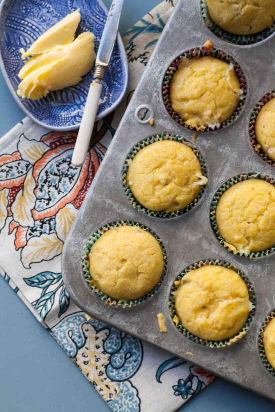 Pepper Jack and Green Chili Corn Muffins