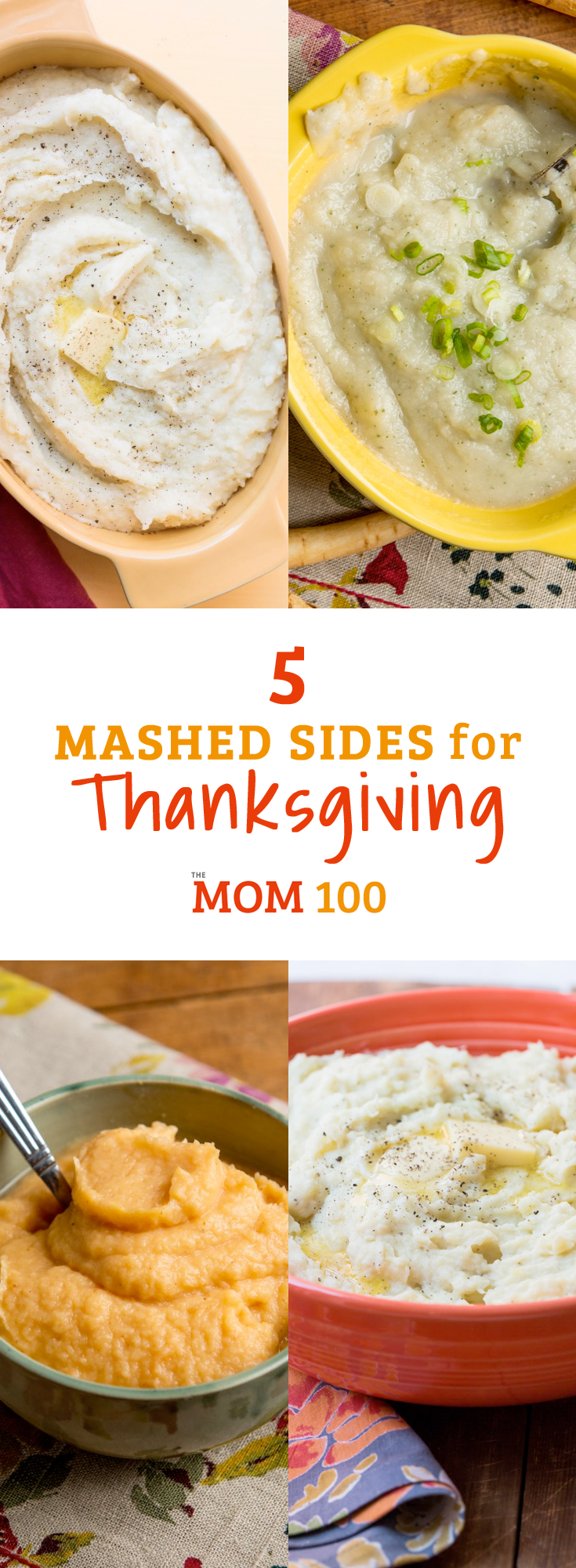 5 Mashed Sides for Thanksgiving: Yes, you still need mashed potatoes on the table, but it\'s nice to change things up by adding another mashed root vegetable