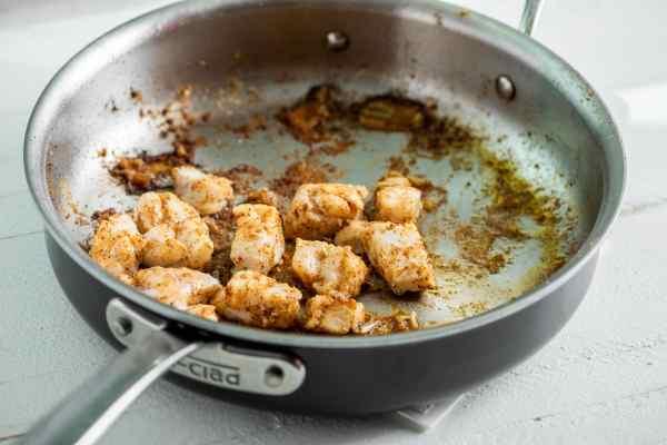 Alaska Rockfish in a saute pan