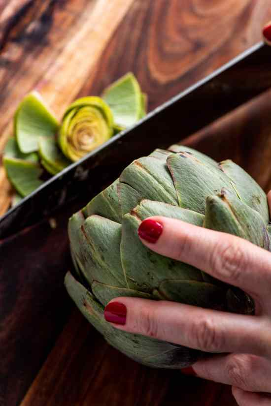 How to Cook Artichokes - Trimming the Top
