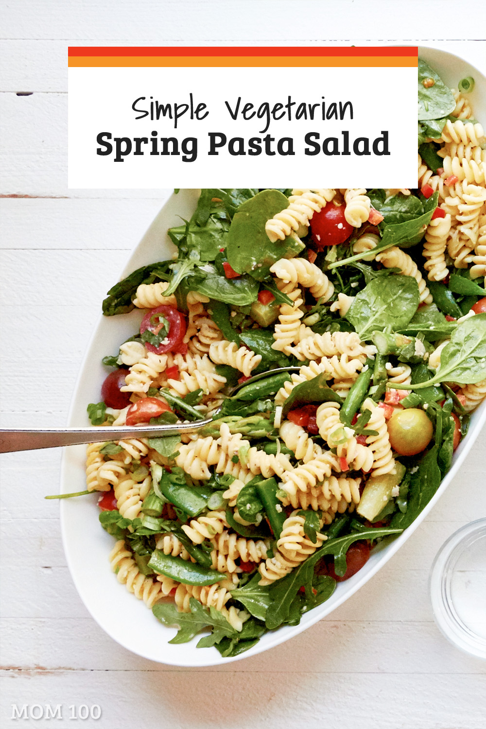 This Simple Vegetarian Spring Pasta Salad is portable and flexible. It\'s also a nice way to play around with the vegetables of the season.