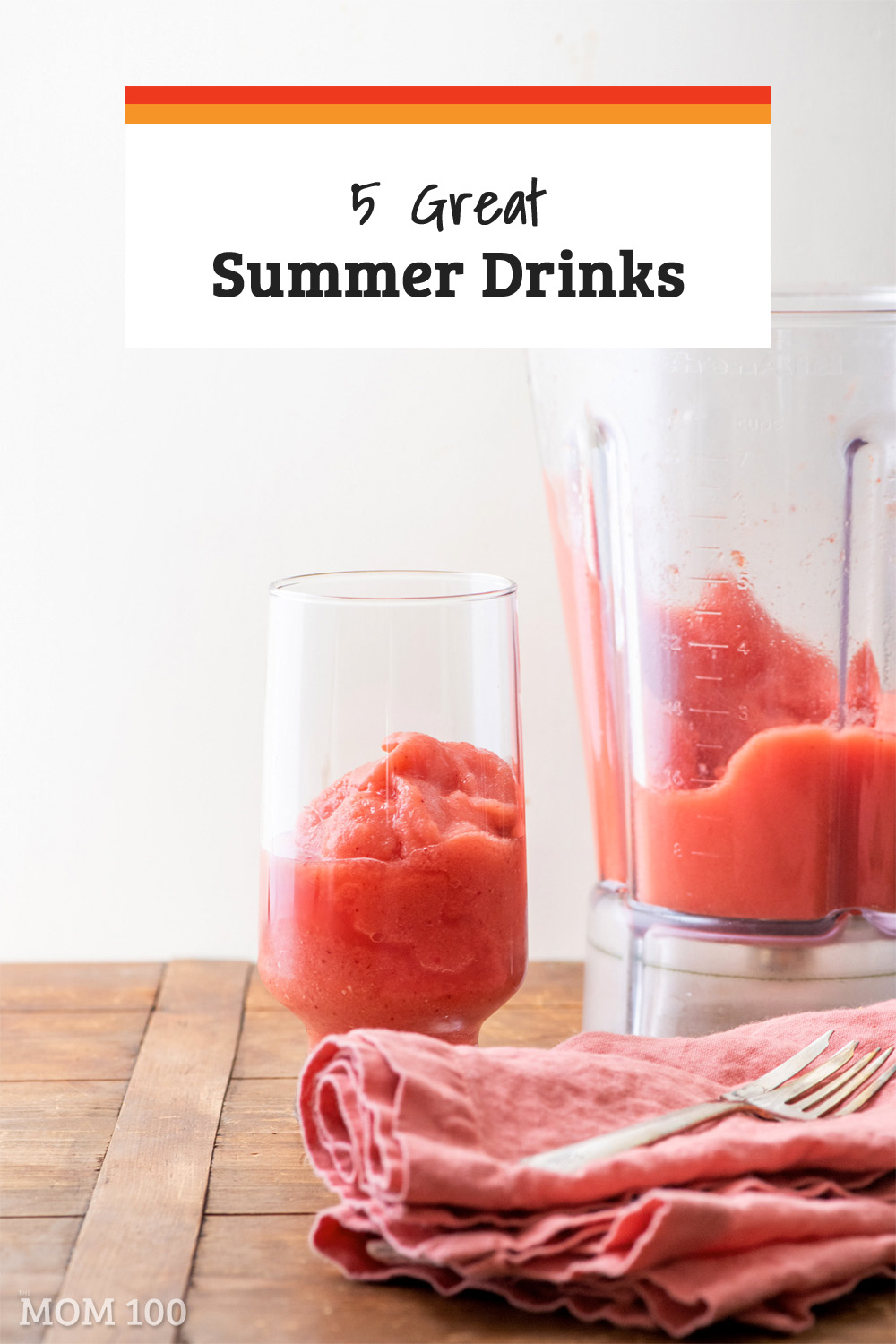 5 Great Summer Drinks / Sip on something sweet and cool this summer! Here are five cocktails, mocktails, and smoothies for the whole family. #drinks #mocktails #cocktails #smoothie
