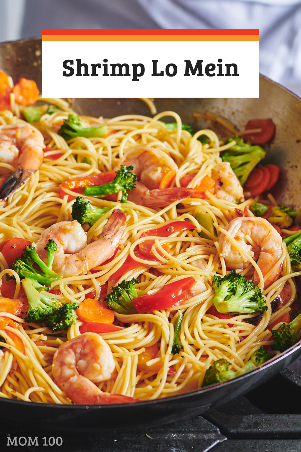 A healthy and quick shrimp lo mein recipe, colorful and so easy; perfect for a satisfying weeknight dinner.