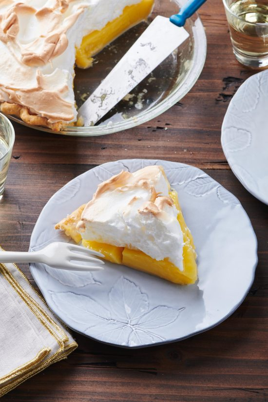 Lemon Meringue Pie on a plate