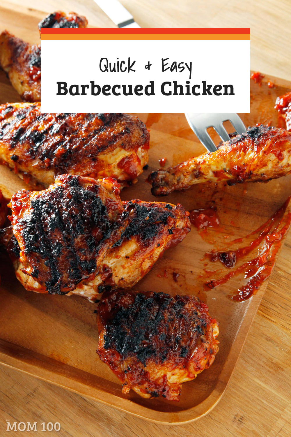 For summer entertaining, when in doubt, barbecued chicken is always the answer.  Plus, this tangy, savory sauce is so easy to make.  Pass the napkins!