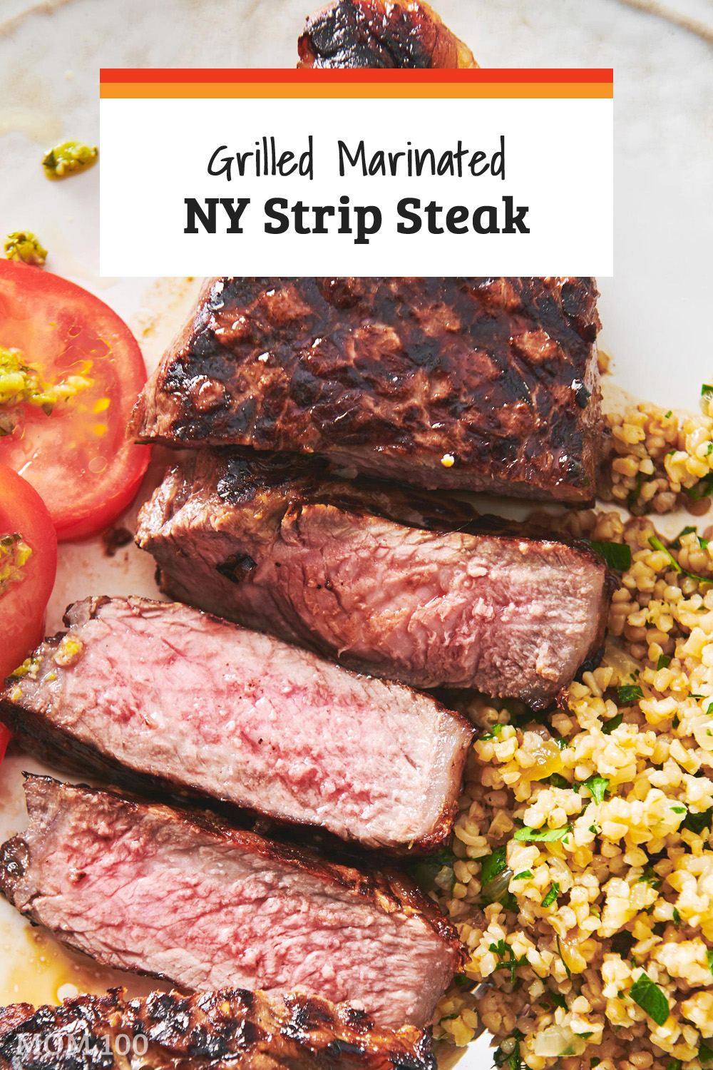 This Grilled Marinated New York Strip Steak is steak nirvana: nicely marbled, full of flavor and seared on the grill or on a cast iron skillet. #steak #nystripsteak