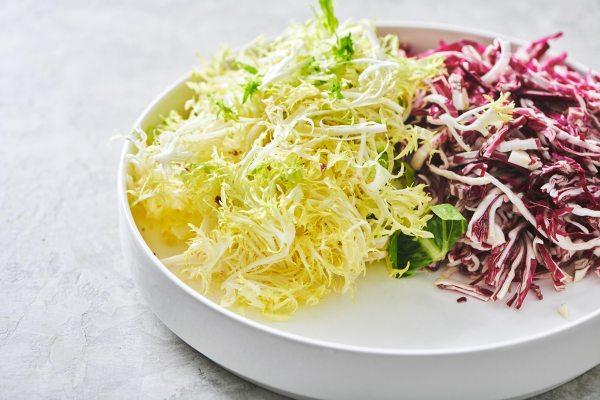 Frisee, Radicchio and Escarole Salad with Citrus Dressing