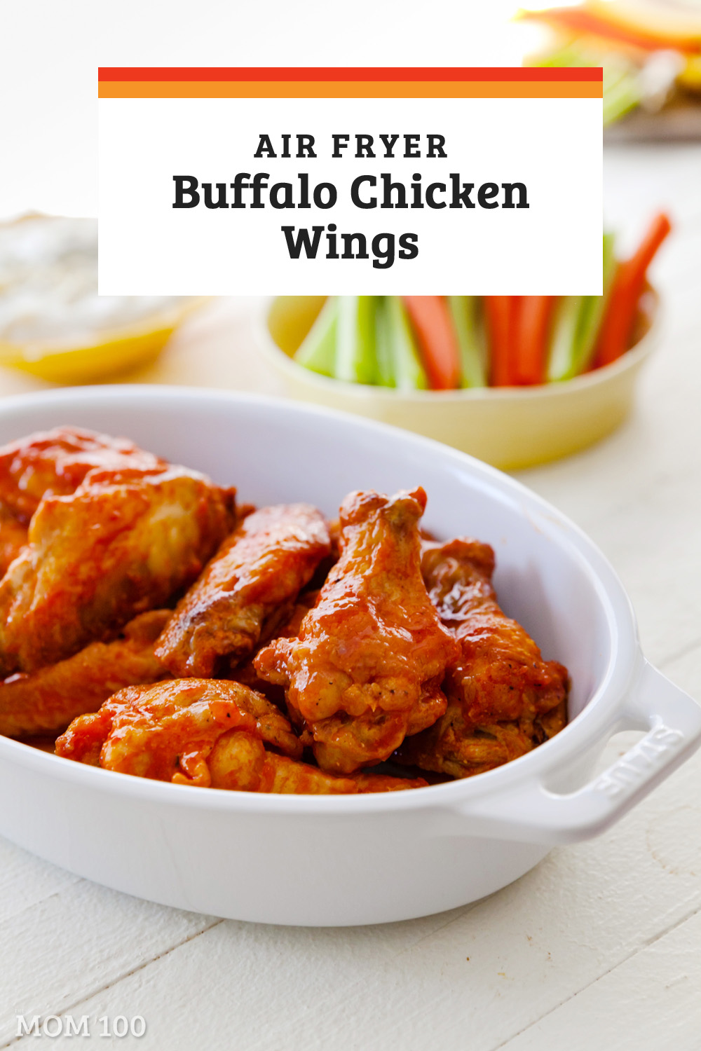 The Ultimate Air Fryer Buffalo Chicken Wings: If you need a final tipping point reason to buy an air fryer, people, this just might be it. #buffalochickenwings #airfryer #airfryerwings #chickenwings