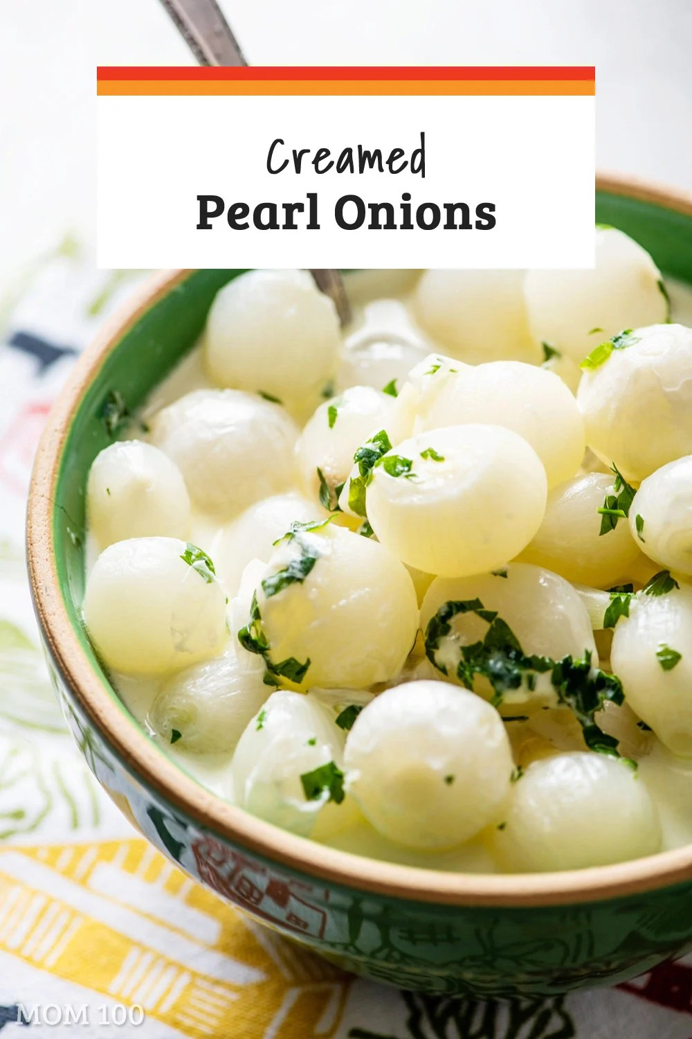 Creamed Pearl Onions / This classic side dish belongs on any holiday table. It is easy to make and pairs perfectly with turkey, rib roasts, leg of lamb, and more. #sidedish
