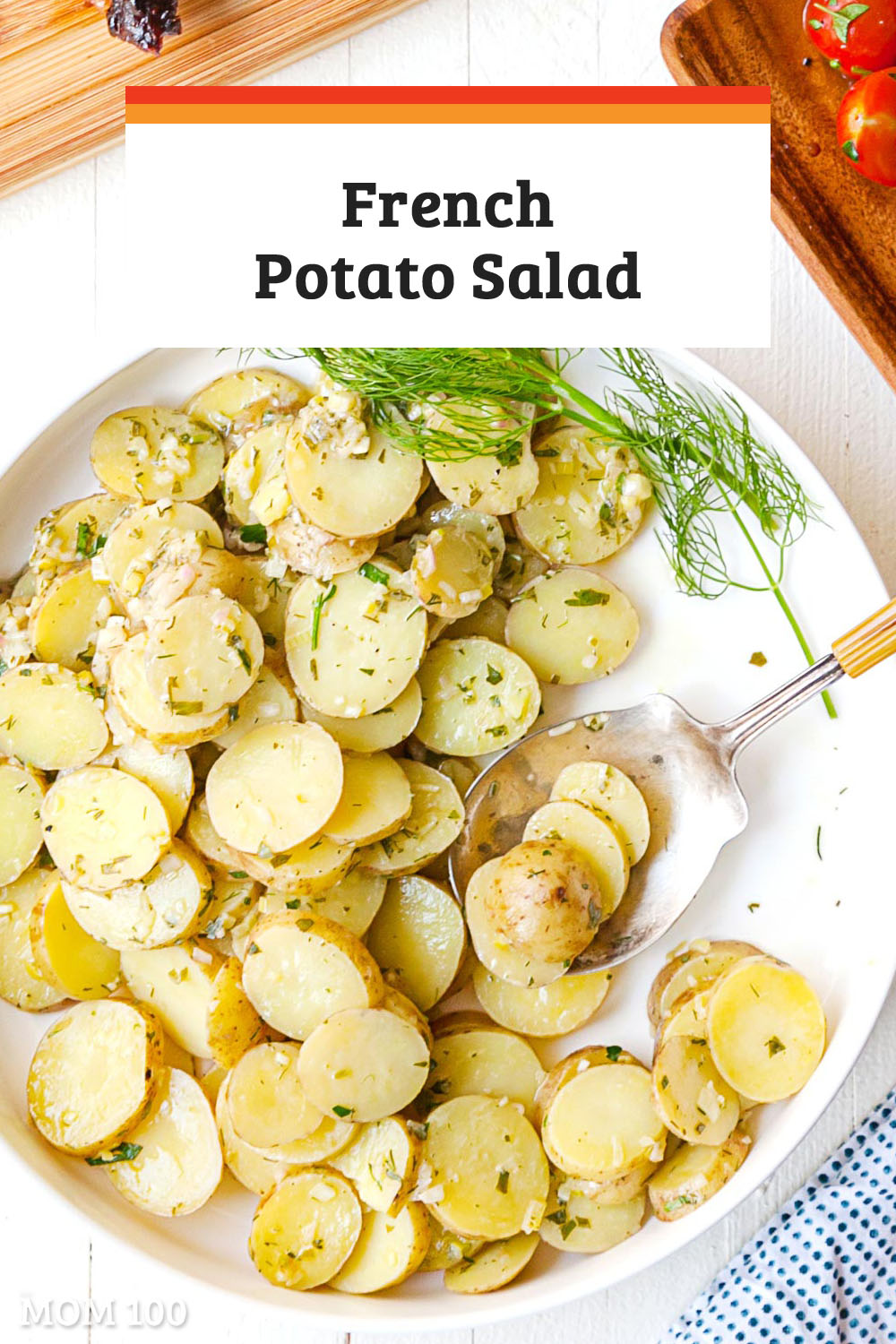 The Best French Potato Salad: This mayo-free potato salad is very clean tasting, with fresh herbs and a touch of mustard and a lovely vinaigrette dressing. #sidedish #vegetarian #mayofree