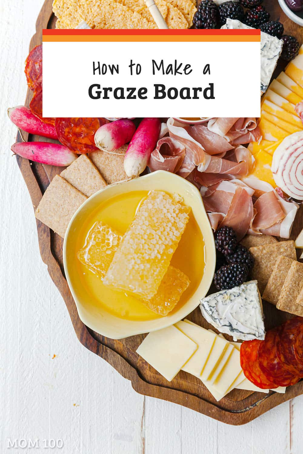 How to Make a Graze Board: from cheeses to meats to spreads to fruits to vegetables to pickles - there\'s room for everything on a graze board. #grazeboard #appetizer