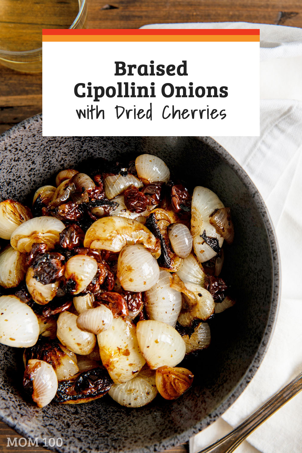 Braised Cipollini Onions with Dried Cherries: This is the most delicious side dish, and it goes with truly anything on the holiday table. #sidedish