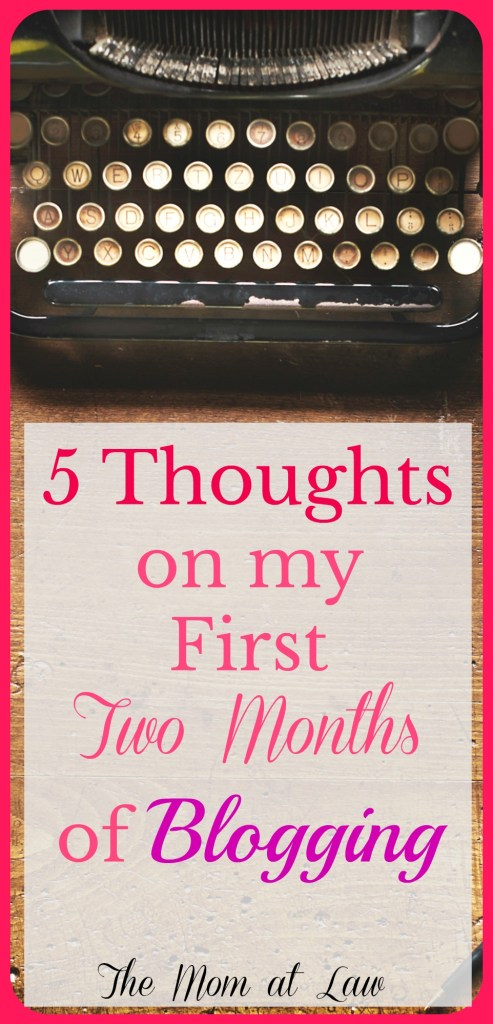 2 Months of Blogging