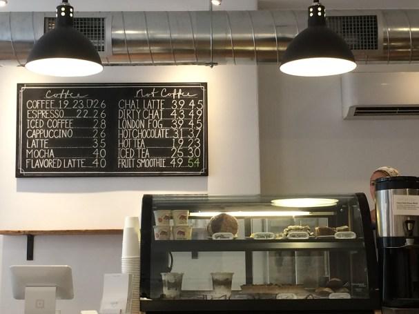 Cafe One Eight Menu