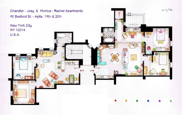 Friends Apartments Floor Plan