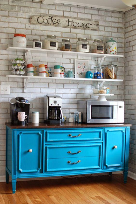 Colorful coffee bar