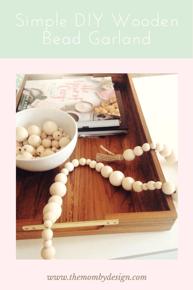 Simple DIY Wooden Bead Garland