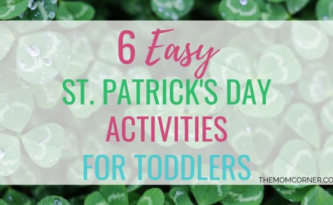 6 Easy St Patrick S Day Activities For Toddlers Themomcorner