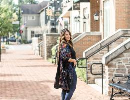 Outfit of the Day: Fall Floral Kimono
